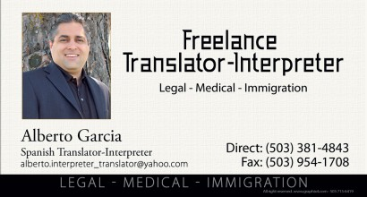 Hispanic Media NW / Business Card